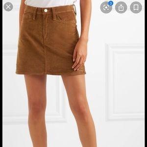 Frame corduroy skirt